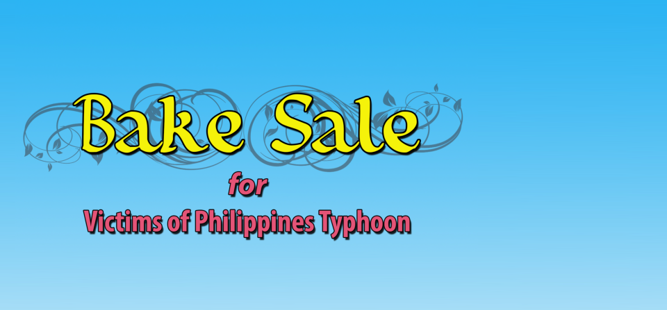 Bake Sale at TASO for the Victims of Philippines Typhoon